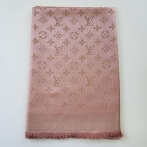 76f530aa834ba Louis Vuitton. Louis Vuitton Monogram Wool Silk Scarf ...
